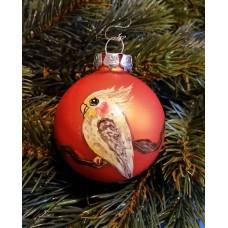 """Weihnachtskugel """"Nymphie"""" - 6 cm  - orange, matt"""