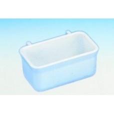 Futterbehälter mit Kunststoffhalter, weiß